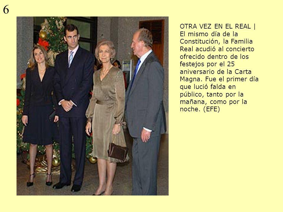 OTRA VEZ EN EL REAL | El mismo día de la Constitución, la Familia Real acudió al concierto ofrecido dentro de los festejos por el 25 aniversario de la