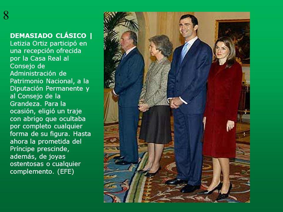 DEMASIADO CLÁSICO | Letizia Ortiz participó en una recepción ofrecida por la Casa Real al Consejo de Administración de Patrimonio Nacional, a la Diput