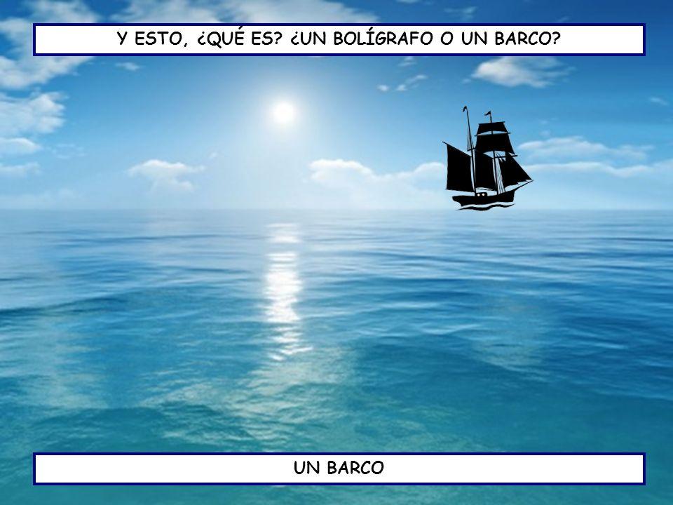 MIRA EL BARCO, TIENE UN PROBLEMA ¿CUÁL DE ESTOS VERBOS SE REFIERE AL PROBLEMA DEL BARCO.