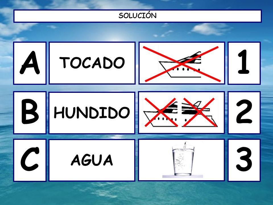 SOLUCIÓN TOCADO A B C HUNDIDO AGUA 1 2 3