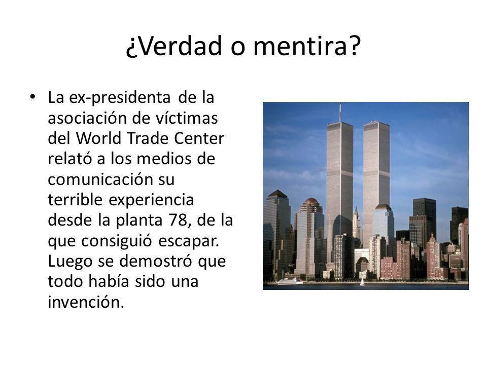 ¿Verdad o mentira? La ex-presidenta de la asociación de víctimas del World Trade Center relató a los medios de comunicación su terrible experiencia de