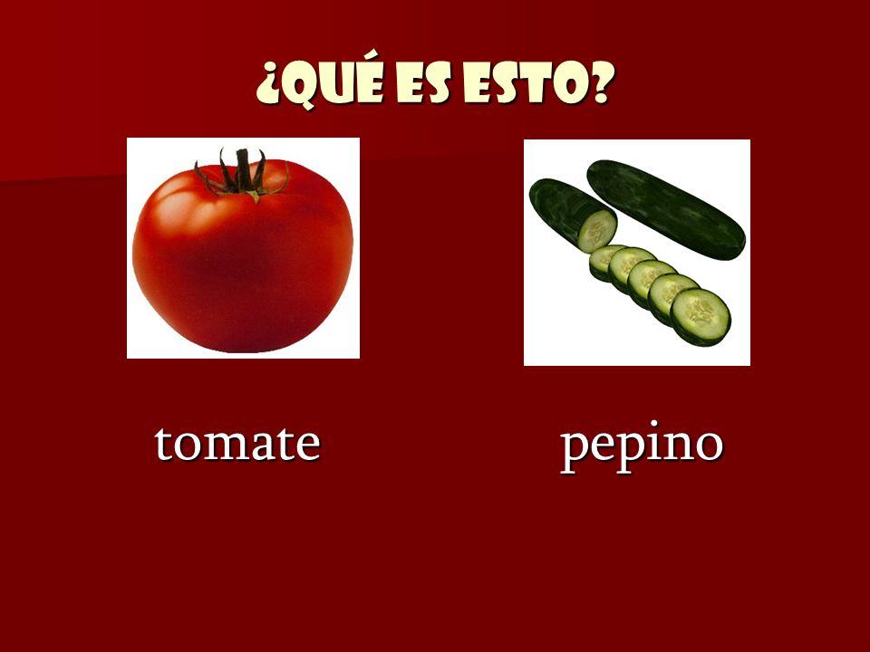 ¿Qué es esto? tomate pepino tomate pepino