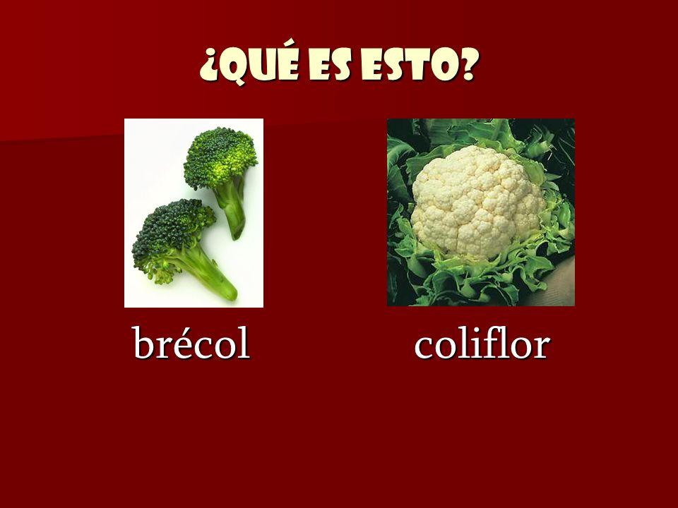 ¿Qué es esto? brécol coliflor brécol coliflor