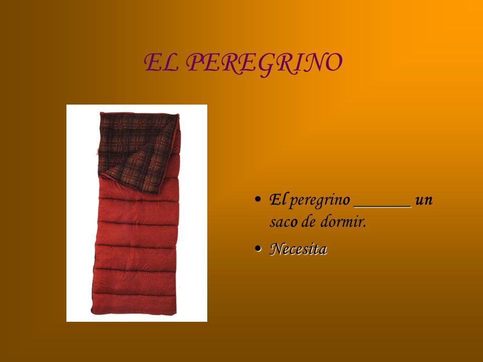 EL PEREGRINO ______El peregrino ______ un saco de dormir. NecesitaNecesita