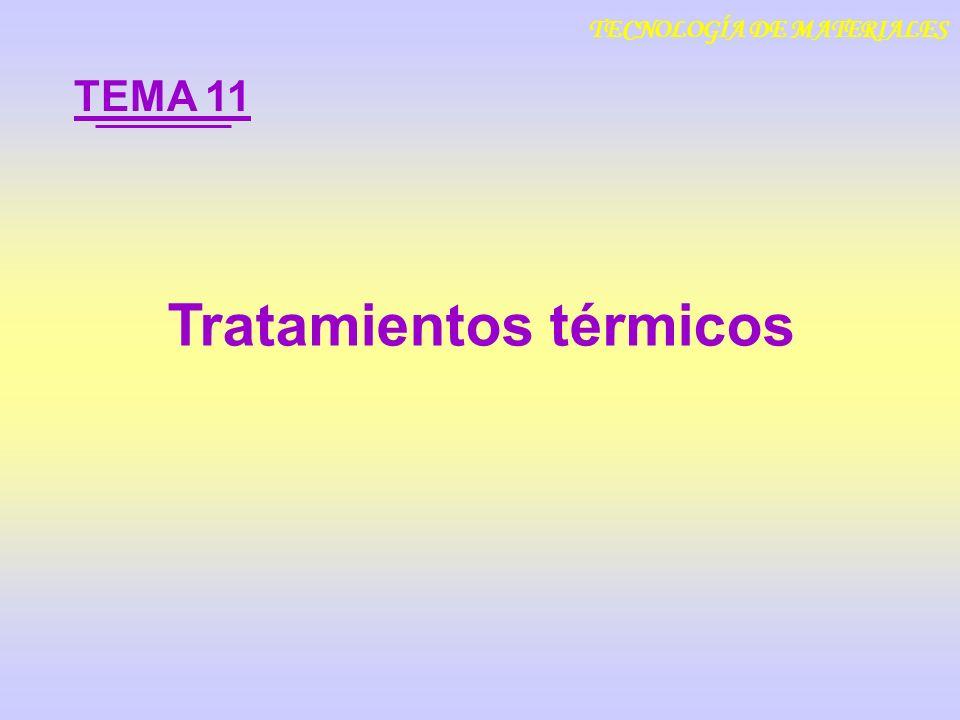 Tratamientos térmicos TEMA 11 TECNOLOGÍA DE MATERIALES