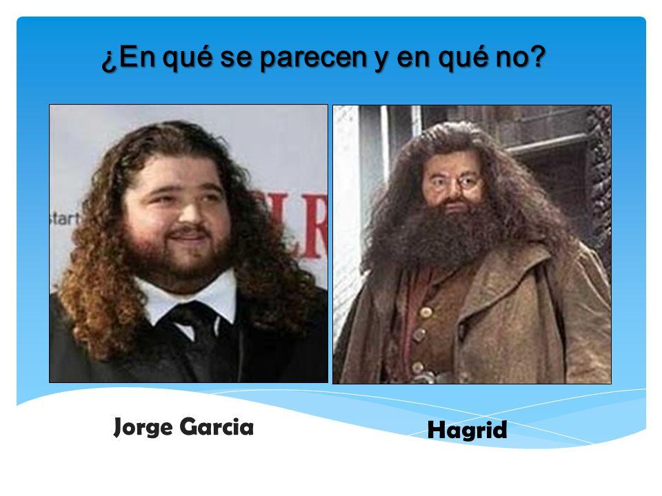 ¿En qué se parecen y en qué no? Jorge Garcia Hagrid