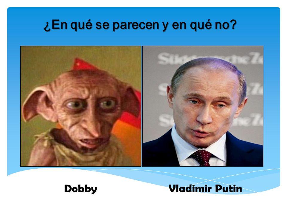 ¿En qué se parecen y en qué no? Dobby Vladimir Putin