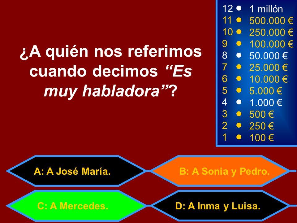 A: Cinco C: Quinientos 1100 8 7 6 3 50.000 25.000 10.000 500 12 11 10 9 1 millón 500.000 250.000 100.000 ¿Cuántos céntimos tiene medio euro.