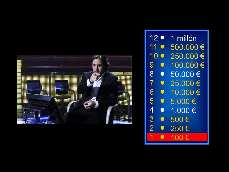 2 250 1 100 8 7 6 5 4 3 50.000 25.000 10.000 5.000 1.000 500 12 11 10 9 1 millón 500.000 250.000 100.000