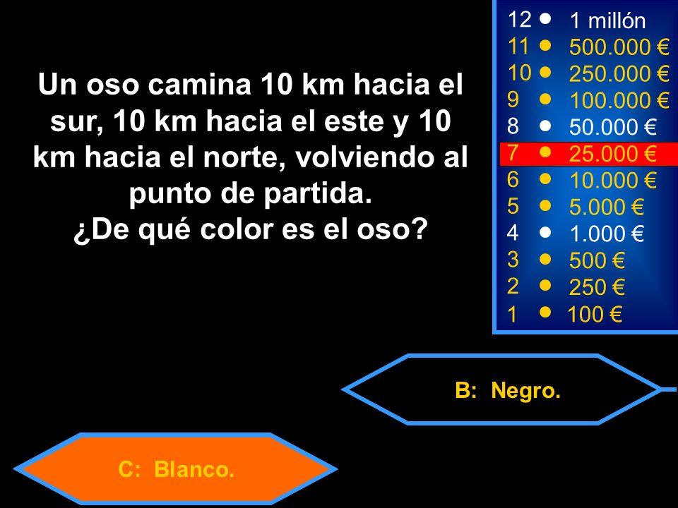 C: Blanco. B: Negro.