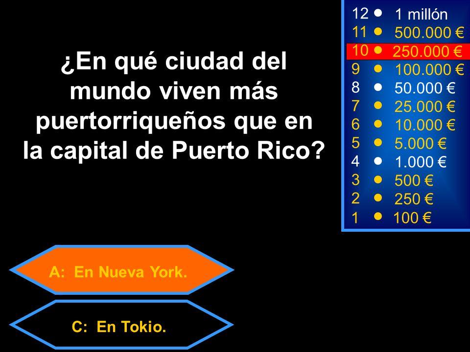 A: En Nueva York. C: En Tokio.