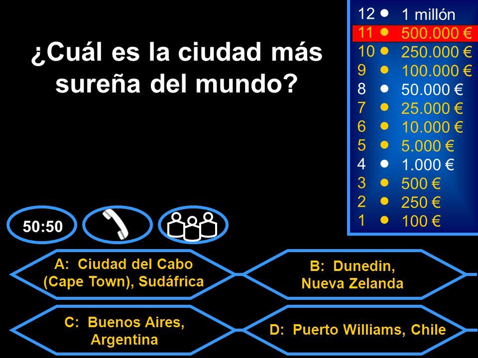 1100 8 3 50.000 500 12 10 9 1 millón 250.000 100.000 ¿En cuántos países el español es lengua oficial.