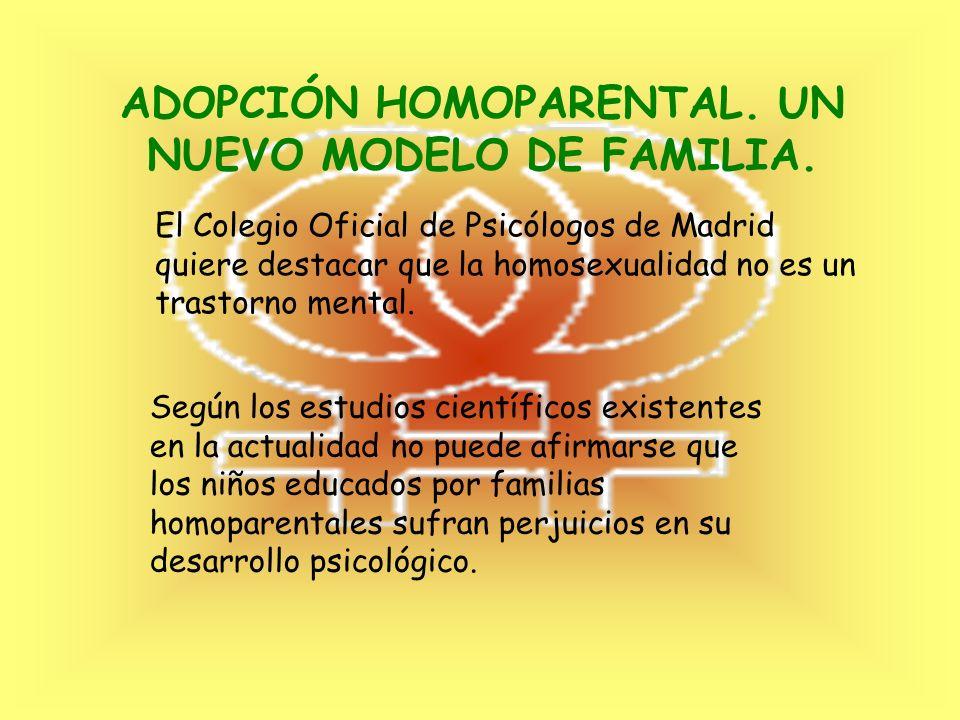 FAMILIAS HOMOPARENTALES. REFORMA DEL CÓDIGO CIVIL. Ley 13 / 2005, de 1 de Julio. La ley permite que el matrimonio sea celebrado entre personas del mis