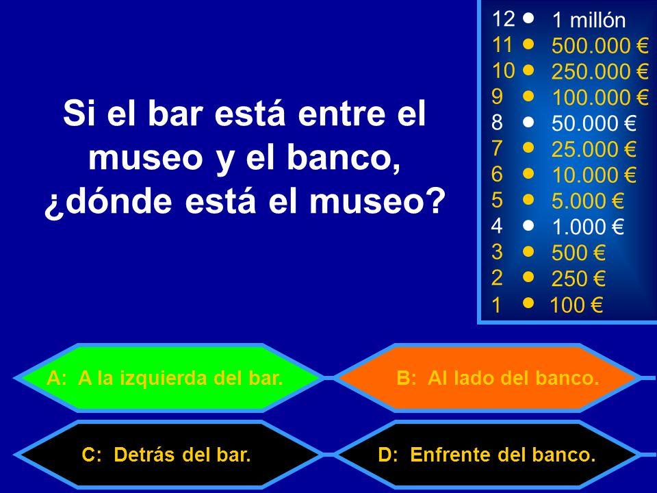 C: Detrás del bar.