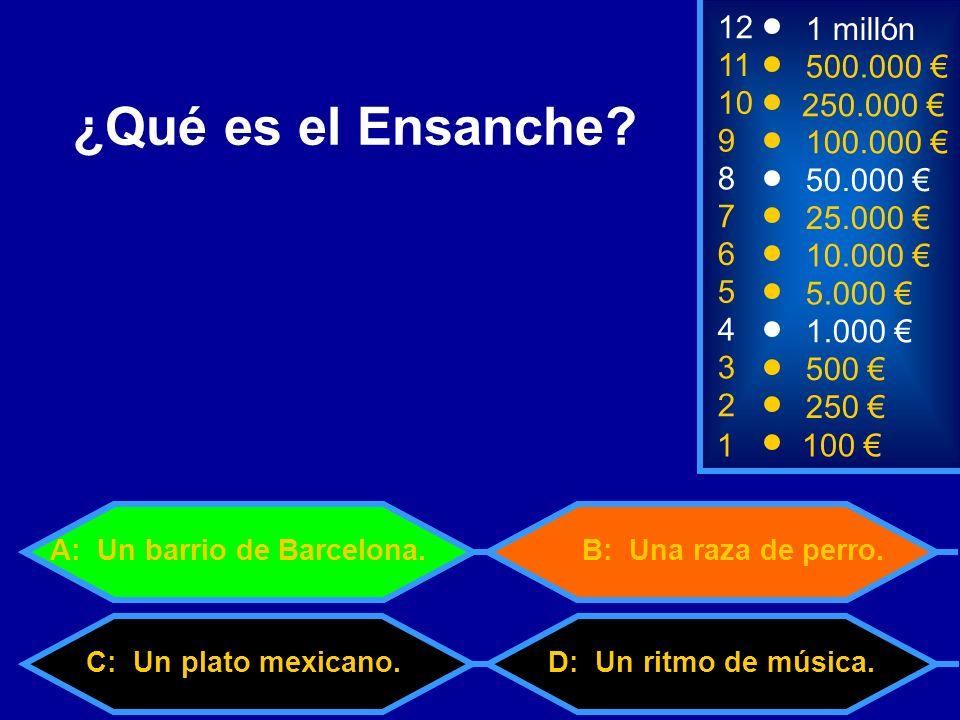 1100 3 500 12 11 9 1 millón 500.000 100.000 ¿Qué es el Ensanche.