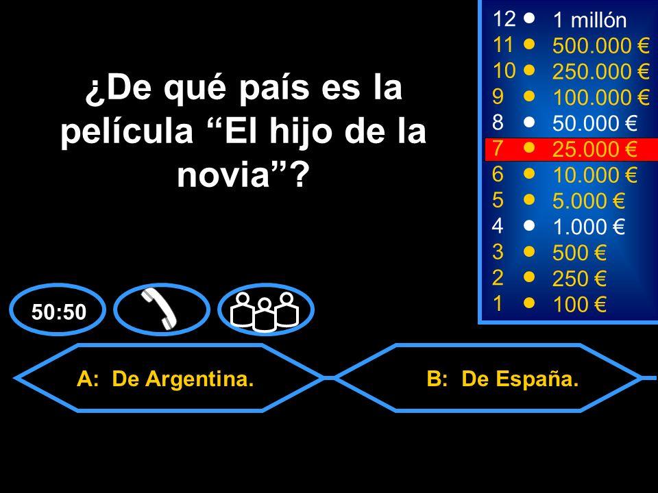 A: De Argentina. C: De México.D: De Chile. B: De España.