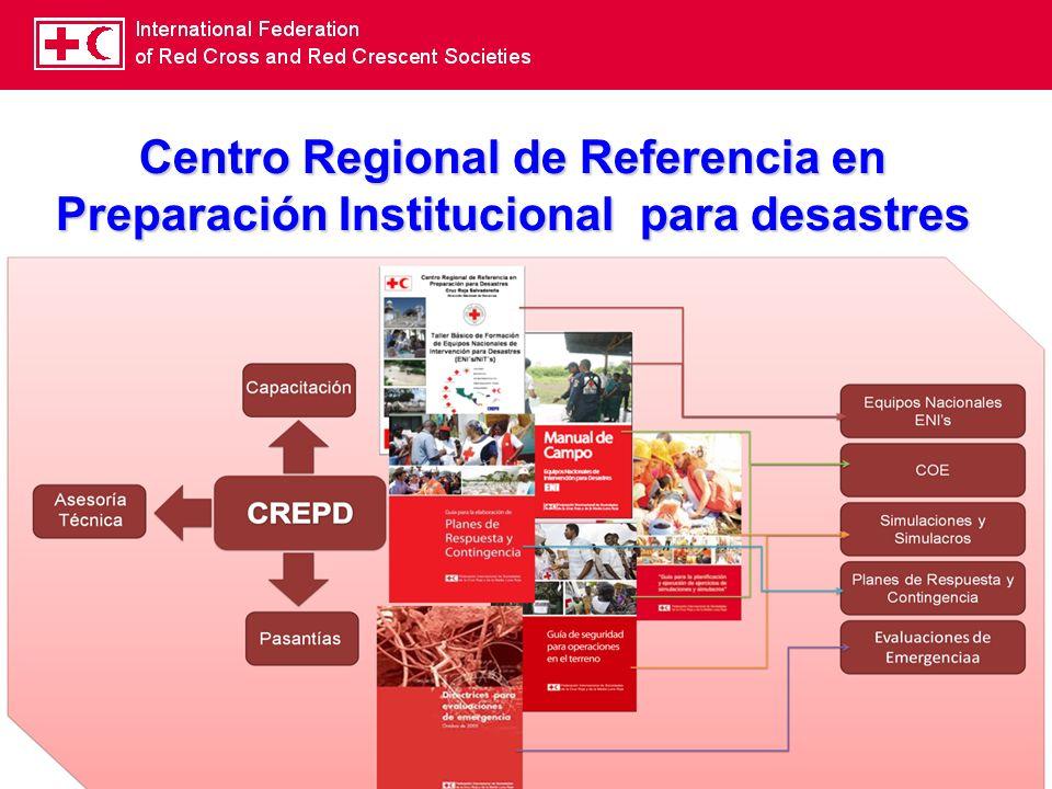 13 Centro Regional de Referencia en Preparación Institucional para desastres