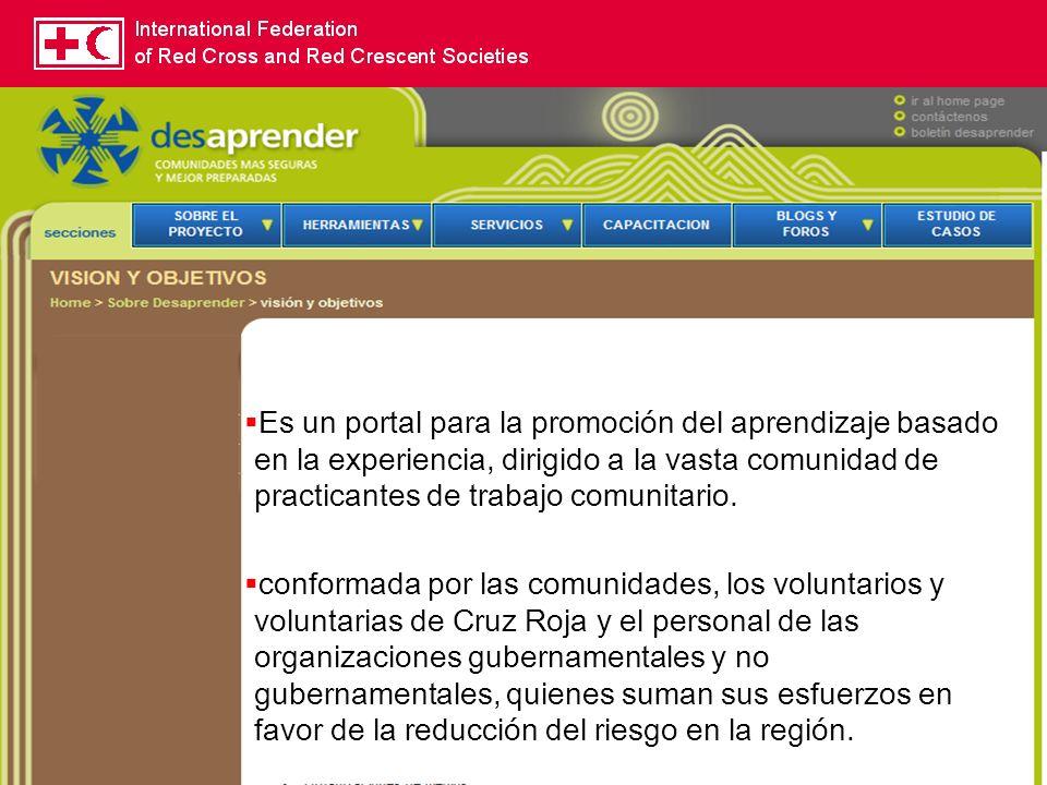 15 Es un portal para la promoción del aprendizaje basado en la experiencia, dirigido a la vasta comunidad de practicantes de trabajo comunitario. conf