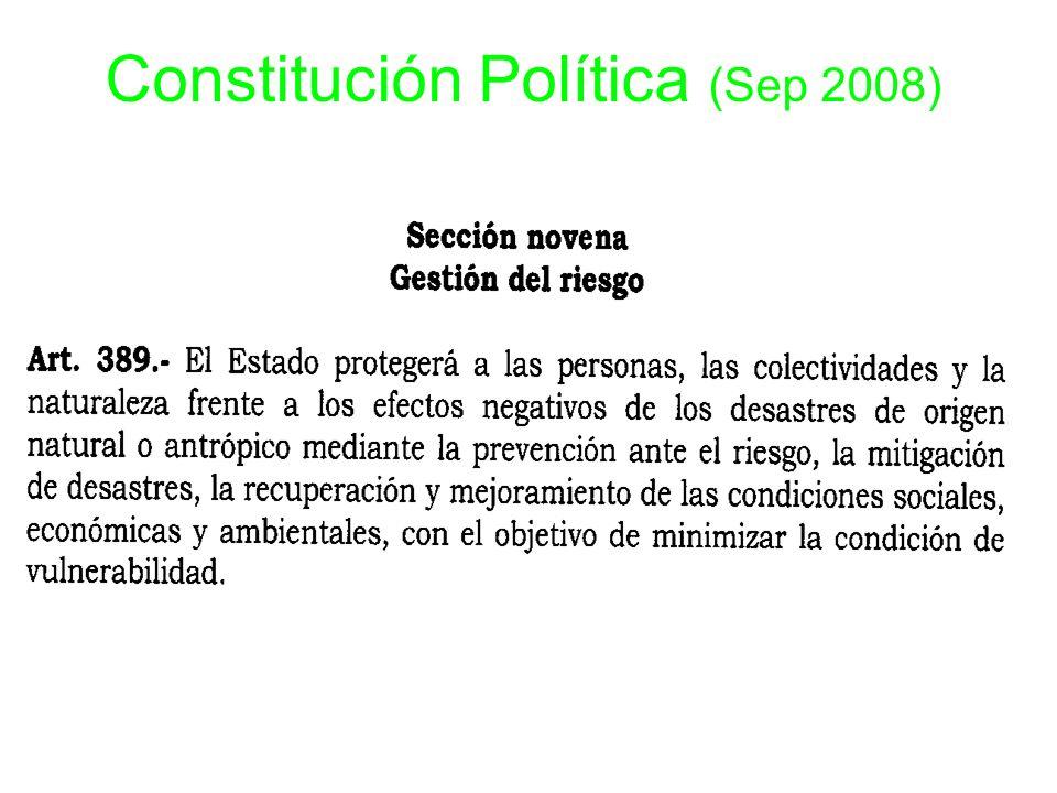 Constitución Política (Sep 2008)