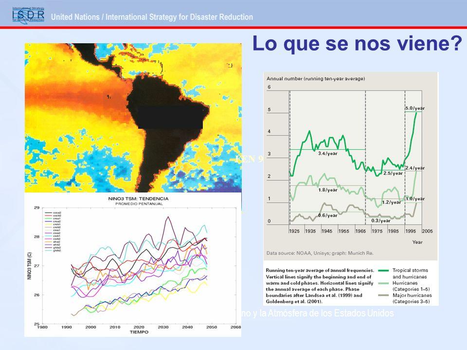 Lo que se nos viene? Imagen de la Administración Nacional del Oceano y la Atmósfera de los Estados Unidos (NOAA) El Niño 1998 FEN 97-98