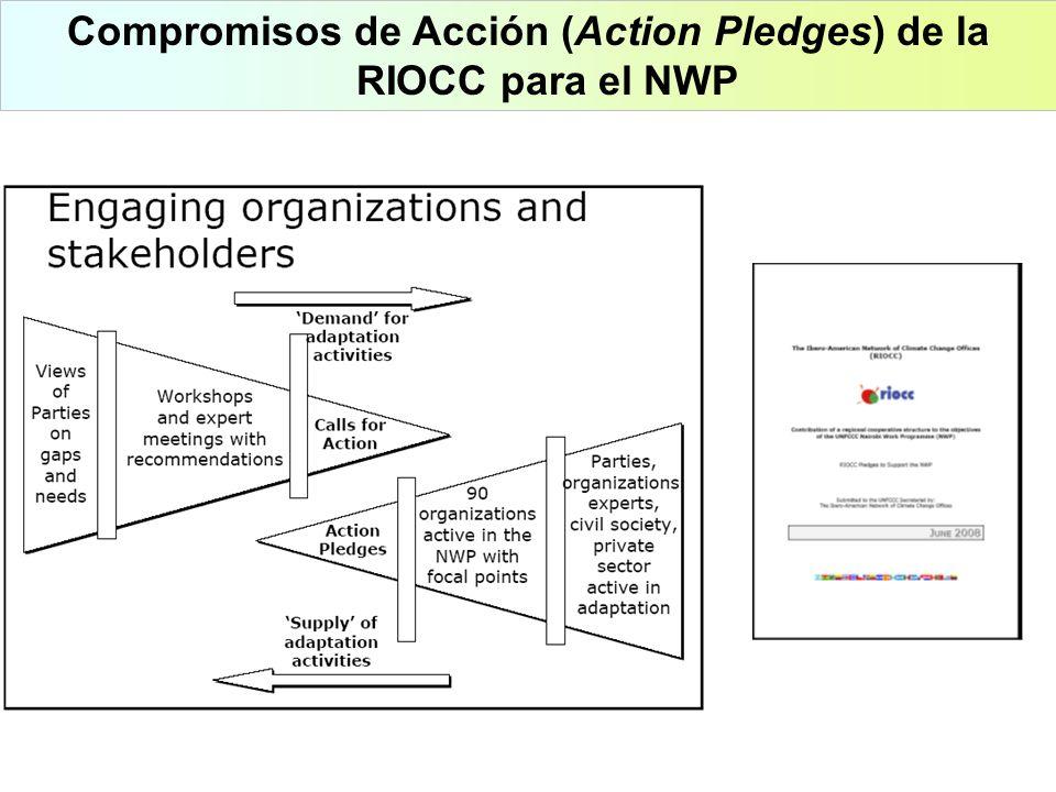 Compromisos de Acción (Action Pledges) de la RIOCC para el NWP
