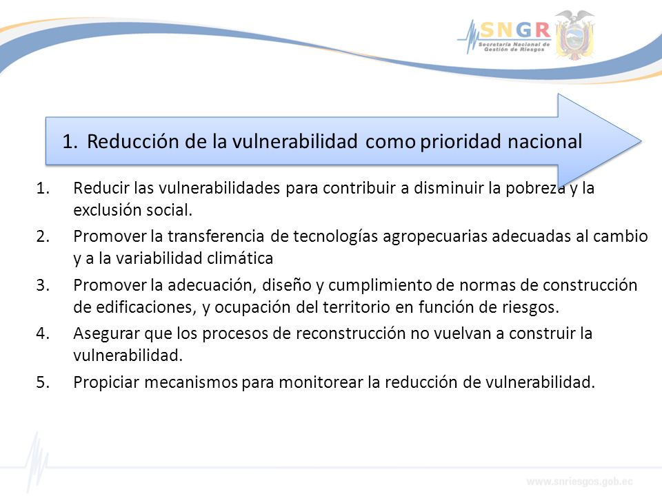 1.Reducir las vulnerabilidades para contribuir a disminuir la pobreza y la exclusión social. 2.Promover la transferencia de tecnologías agropecuarias
