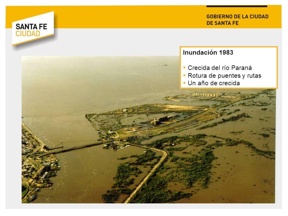 Inundación 2003 Crecida del río Salado Obra de defensa inconclusa 130.000 evacuados y 24 muertos oficiales