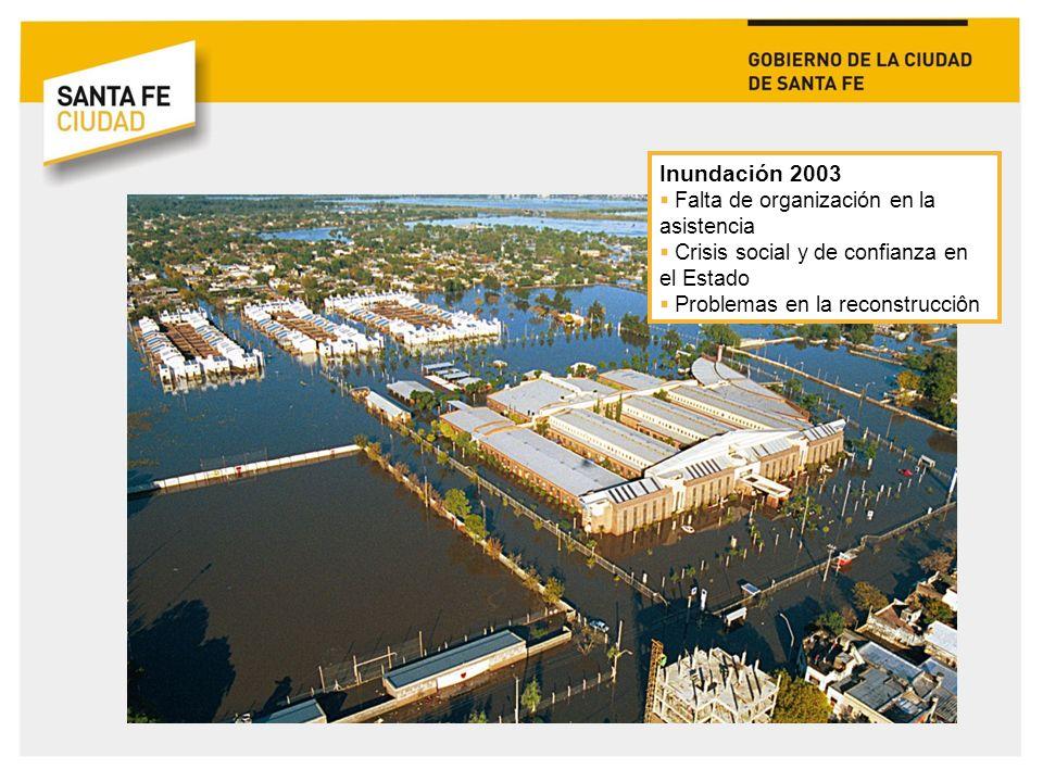 Inundación 2007 Lluvia extraordinaria Estaciones de bombeo y reservorios no operativos Falta de plan de contingencia 30.000 evacuados