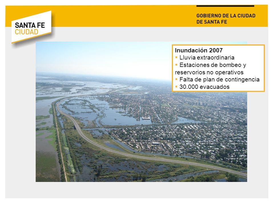 Marzo 2008: Intendente Mario Barletta Plan de Desarrollo Santa Fe Ciudad Desarrollar como política de Estado la gestión integral de riesgos, incorporando este enfoque a toda la planificación urbana y promoviendo la construcción de una cultura de la prevención - Lineamientos del marco de acción de Hyogo.
