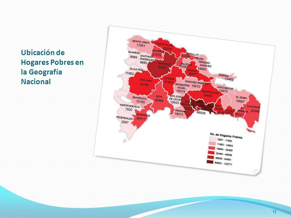 Ubicación de Hogares Pobres en la Geografía Nacional 13