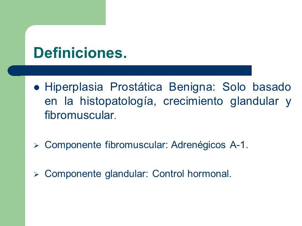 Antecedentes Históricos 1536 Jean Riolanus fisiopatología de la próstata 1786 John Hunter papel hormonal e hiperplasia de lóbulos laterales y medio 1980 Mc Neal clasifica anatomicamente a la prostata