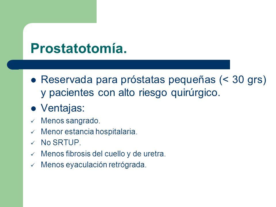 Prostatectomía con Laser.