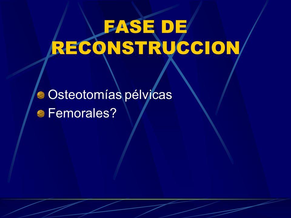 FASE DE RECONSTRUCCION Osteotomías pélvicas Femorales?