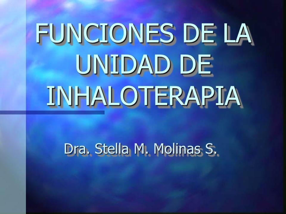 FUNCIONES DE LA UNIDAD DE INHALOTERAPIA Dra. Stella M. Molinas S.