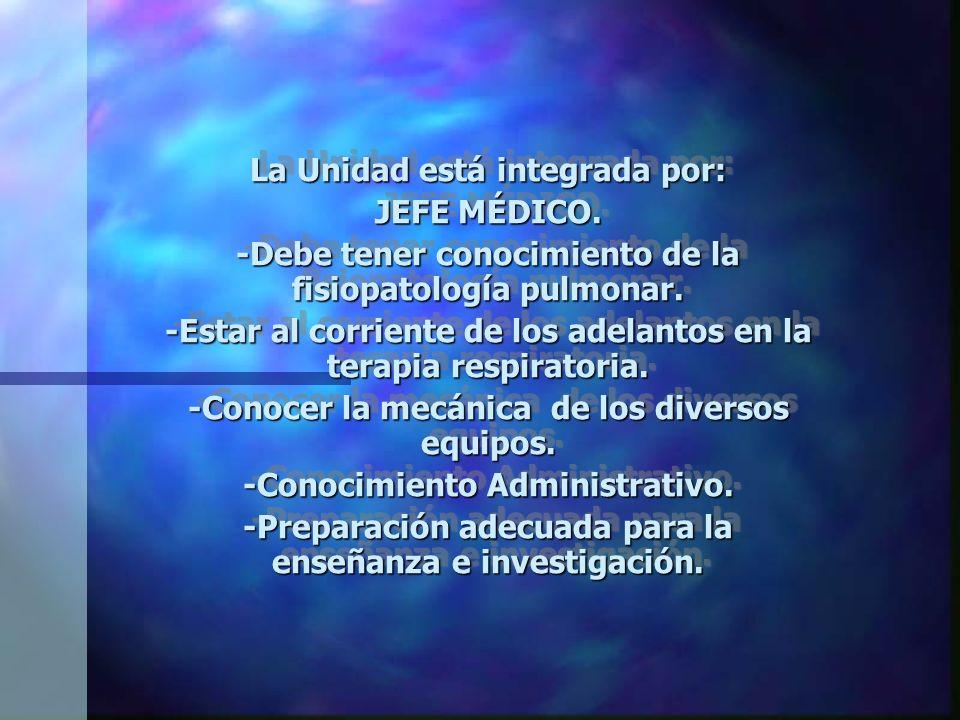 FUNCIONES DE LA UNIDAD DE INHALOTERAPIA VENTILACIÓN MECÁNICA: -Invasiva. -No invasiva.