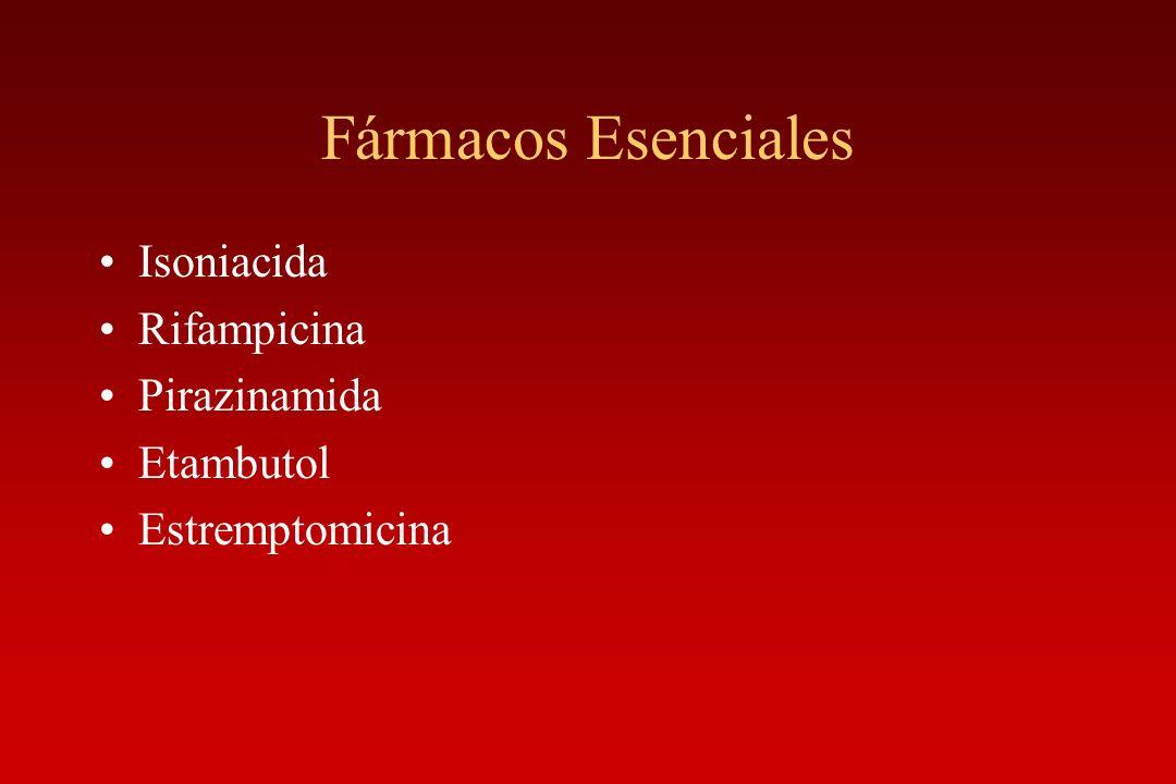 Fármacos Esenciales Isoniacida Rifampicina Pirazinamida Etambutol Estremptomicina