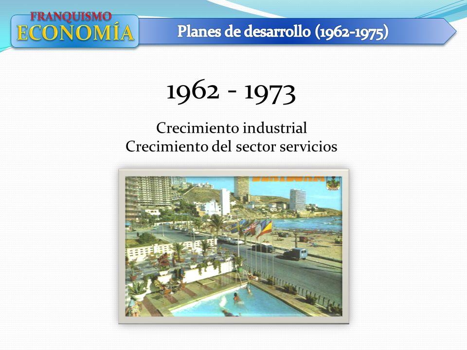 1962 - 1973 Crecimiento industrial Crecimiento del sector servicios