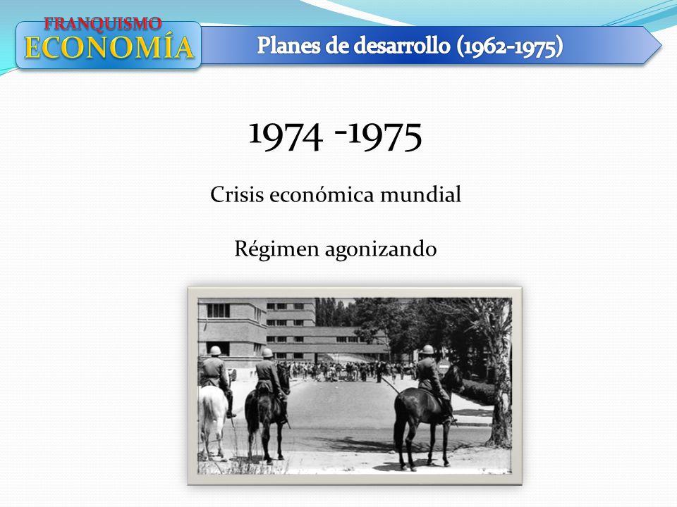 1974 -1975 Crisis económica mundial Régimen agonizando