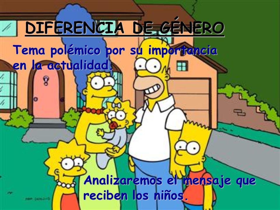 DIFERENCIA DE GÉNERO Tema polémico por su importancia en la actualidad. Analizaremos el mensaje que reciben los niños.