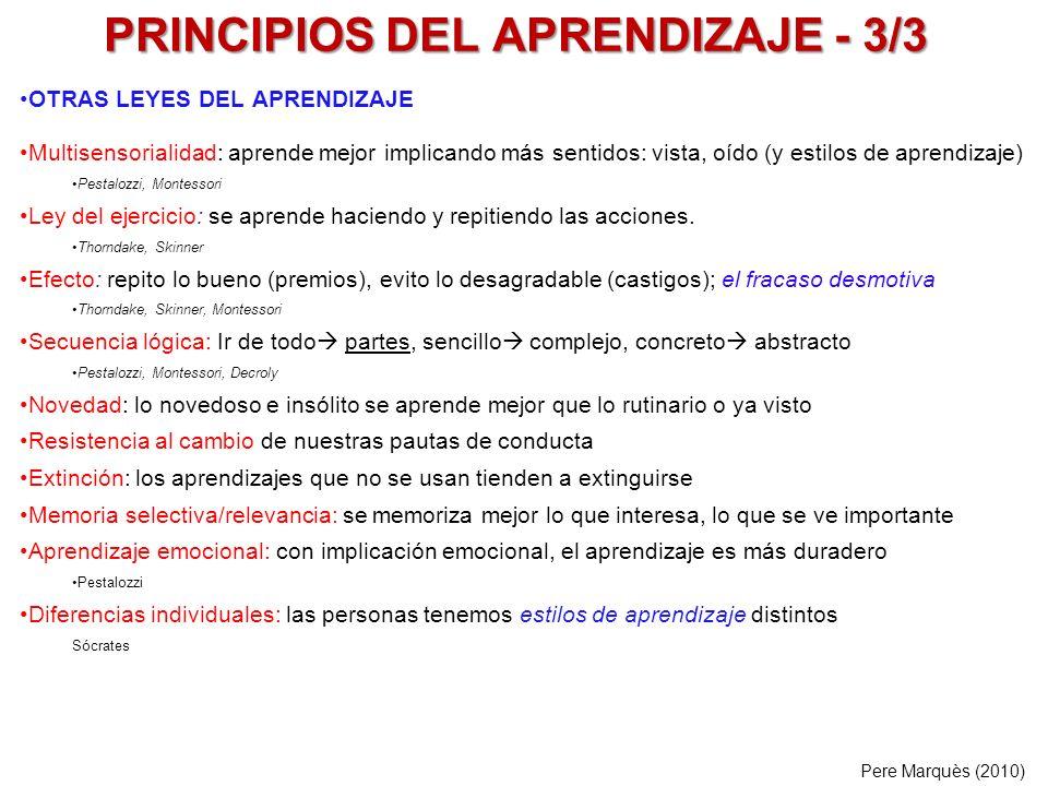 PRINCIPIOS DE LA ENSEÑANZA - 1/5 Los alumnos necesitan vocabulario y lo adquieren: memorizando, leyendo, aplicándolo.