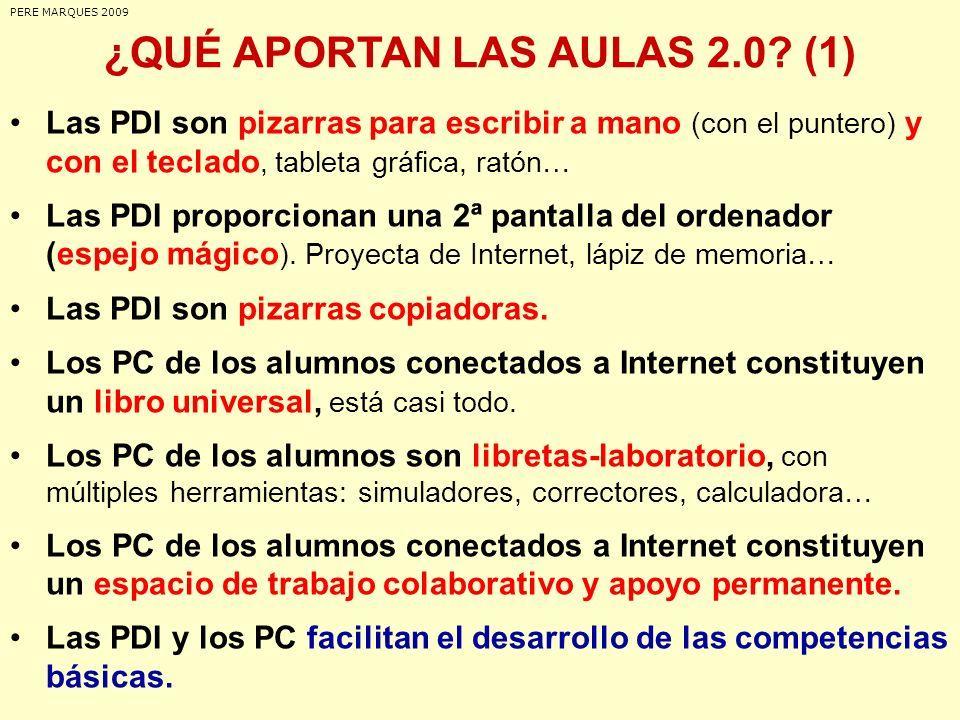 ¿QUÉ APORTAN LAS AULAS 2.0.