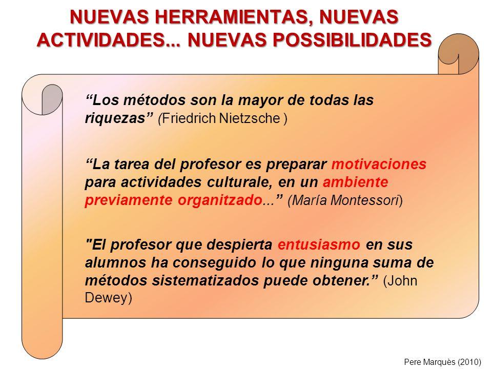NUEVAS HERRAMIENTAS, NUEVAS ACTIVIDADES...
