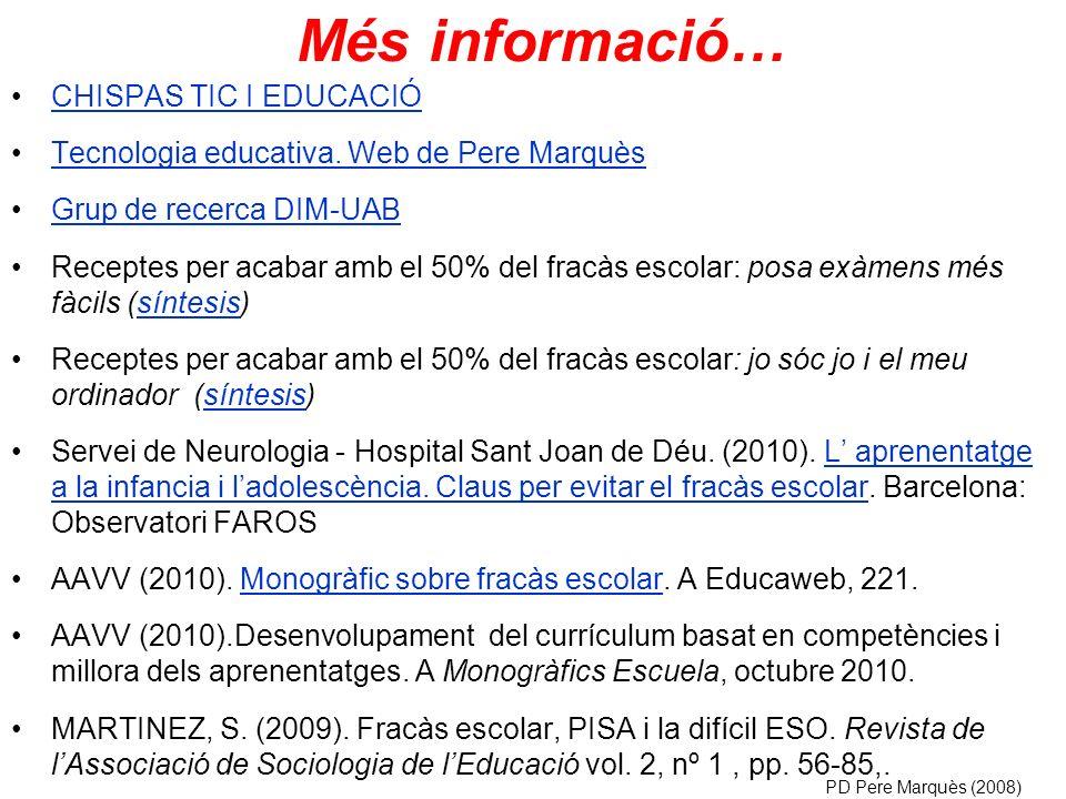 CHISPAS TIC I EDUCACIÓ Tecnologia educativa.