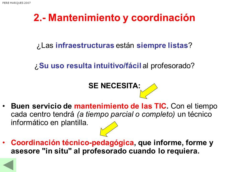 ¿Las infraestructuras están siempre listas.¿Su uso resulta intuitivo/fácil al profesorado.