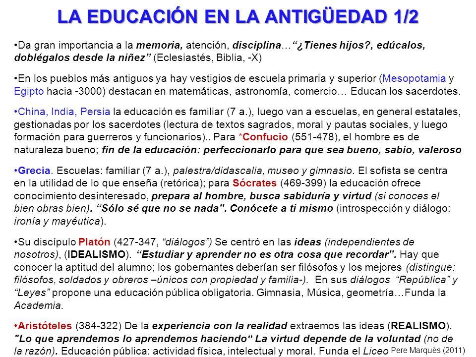 LA EDUCACIÓN EN LA ANTIGÜEDAD 2/2 Roma.Son muy prácticos.