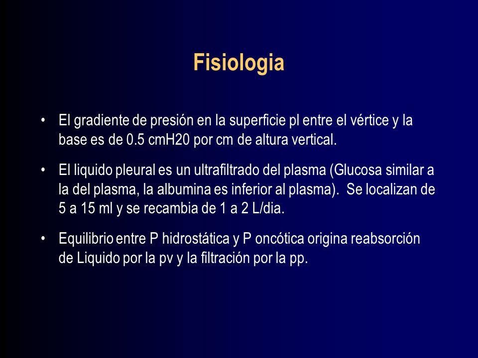 Exudados Causas frecuentes: Paraneumonico, Infarto pulmonar y neoplasia.
