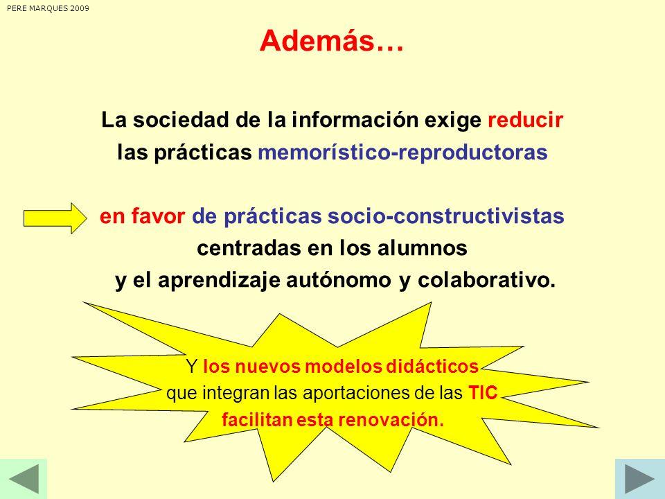 . ACTITUD ACTITUD de los PROFESORES COMPROMISO de DIRECCIÓN y la COMUNIDAD COORDINACIÓN y MANTENIMIENTO INFRAESTRUCTURAS FORMACIÓN RECURSOS PERE MARQUES 2009 Claves para una buena integración de las TIC PIZARRA digital y + + didáctica técnica técnico didáctico