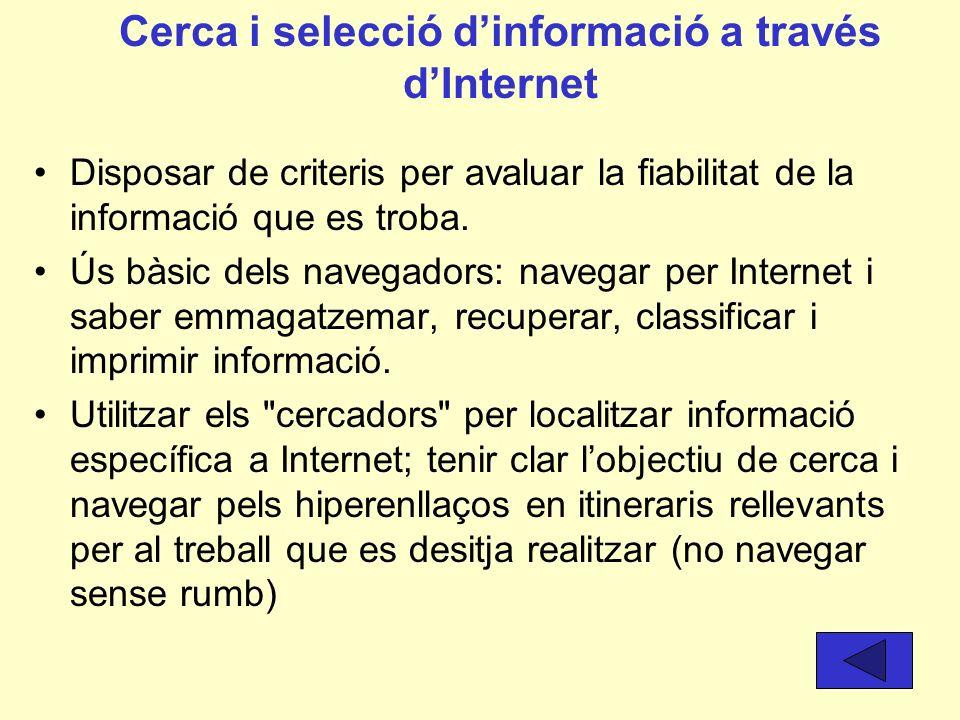 El sistema operatiu Conèixer la terminologia bàsica del sistema operatiu (arxiu, carpeta, programa...) Guardar i recuperar la informació en l'ordinado