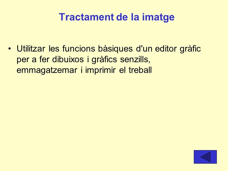 Processament de textos Conèixer la terminologia bàsica sobre editors de text (format de lletra, paràgraf, marges..) i utilitzar- los per a redactar do