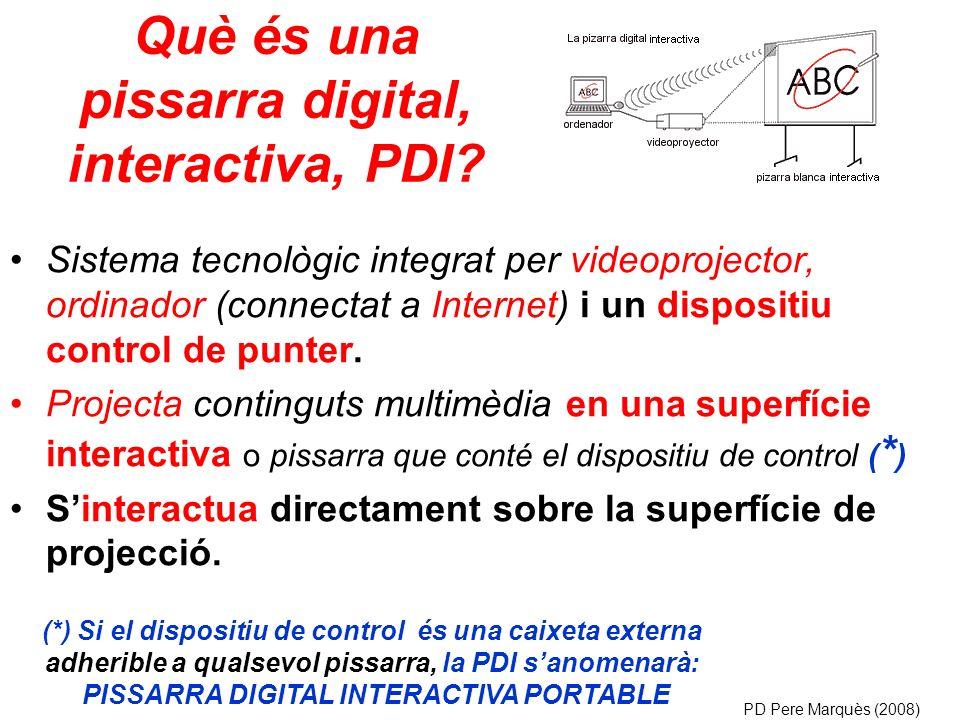 Què és una pissarra digital, interactiva, PDI.